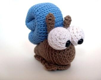 Amigurumi Crochet PATTERN: Snail -pdf-