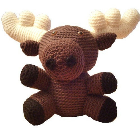 Amigurumi Crochet Pattern Desmond the Moose