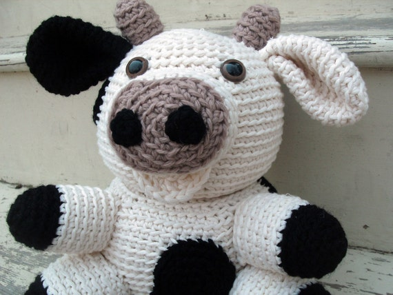 Items Similar To Amigurumi Pattern Crochet Cow Pdf On Etsy
