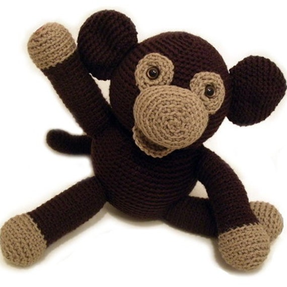 Amigurumi Monkey Etsy : Items similar to Amigurumi PATTERN: Crochet Monkey -pdf ...