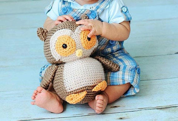 Crochet PATTERN: Owl Plush -pdf-