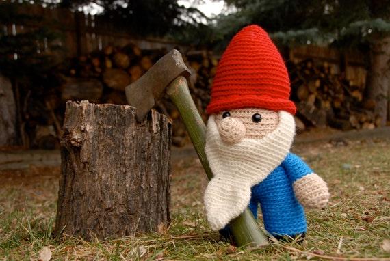 Crochet PATTERN: Crochet Gnome -pdf-