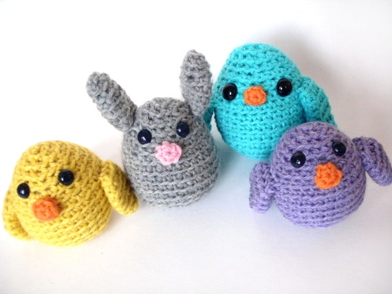 Crochet PATTERN: Easter Chick -pdf-