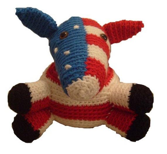 Amigurumi Free Pattern Food : Amigurumi Pattern Democrat Donkey by FreshStitches on Etsy