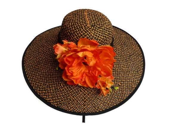 """Kentucky Derby Hat, Summer Hat, Sun Hat, Straw Hat for Race Day, Special Occasions, Weddings, Garden and Tea Parties - """"DANA POINT DIVA"""""""