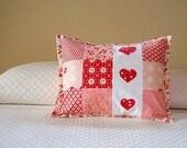 Decorative Pillow Cover Applique Hearts