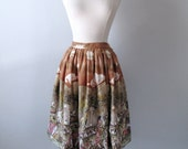 RESERVED FOR ASTIN...1950s Mexican Print Skirt - Cotton