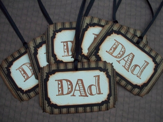 Fathers Day Tags - Set of 6 - Dad