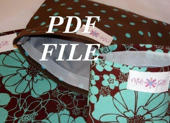 Set of 3 reusable bags - Pattern - PDF File
