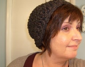 Charcoal  Wool Blend Slouchy Hat