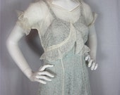 Vintage 40s Earth Angel Over Dress and Slip, Sz S