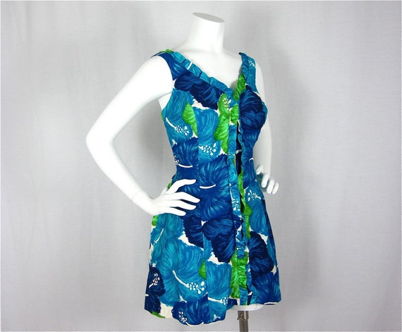 Vintage 5s 60s Fun in the Sun Romper, Sz L