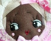 SALE Sweet Bunka Doll Face Pouch with Zipper
