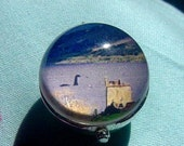 Nessie Loch Ness Monster Scotland Silver and Lucite Bubble Charm