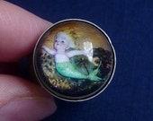 Sweet Little Mermaid Bubble Charm Ring