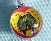 Parakeet Love Birds Bubble Charm