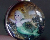 Captured Mermaid Silver Bubble Charm