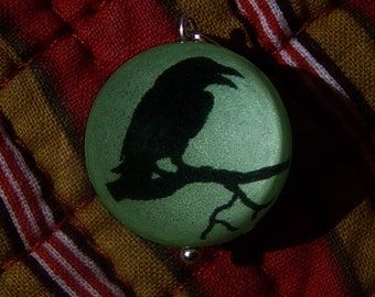 Crow Bubble Charm that Glows in the dark