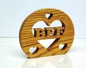 Best Friend Forever Sign Shelf Sign Wood Trivet