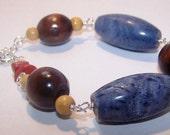 Blue Coral Bracelet