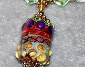 SALE---Grapes Lampwork Necklace