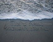 You Choose Personalized Custom Message in the Florida Sand - 5x7 Print