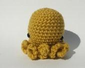 Mini Mustard Yellow Octopus