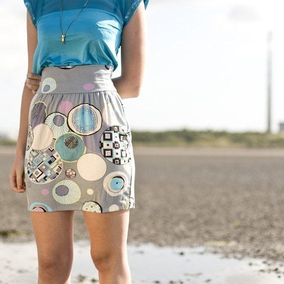 Dolly Gray Print Skirt