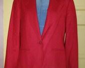 Vintage 80s preppy Pendleton boyfriend jacket