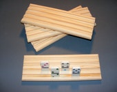 4 Domino Holders Rack Mexican Train Chicken Foot Handmade 4 Rows of Dominoes Great Stocking Stuffers