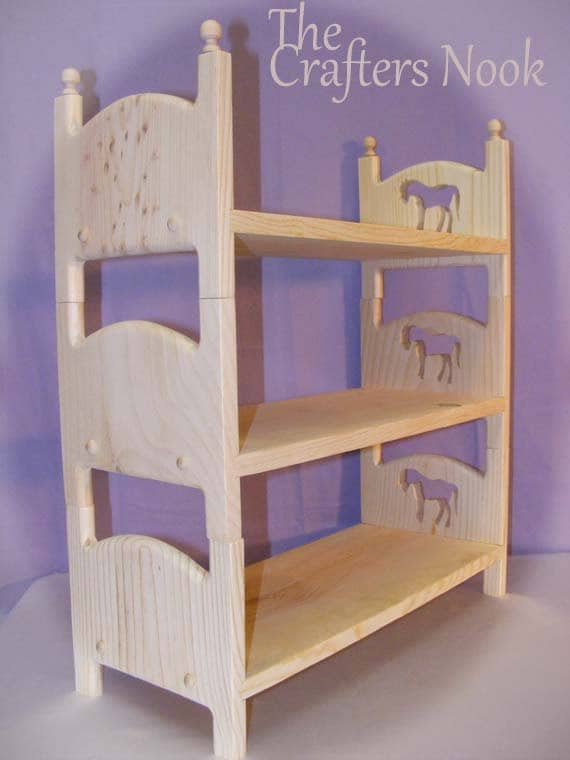 Horse Triple Bunk Bed 3 Stackable American Girl By