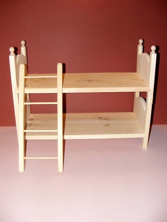 Doll bunk bed and ladder 2 doll beds american made 18 for American made beds