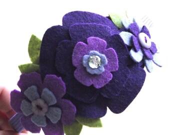 Shades of Purple Flower Headband