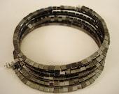 Genuine Hematite Cuff Bracelet