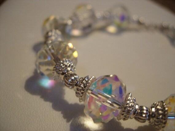 Crystal and Silver Bracelet