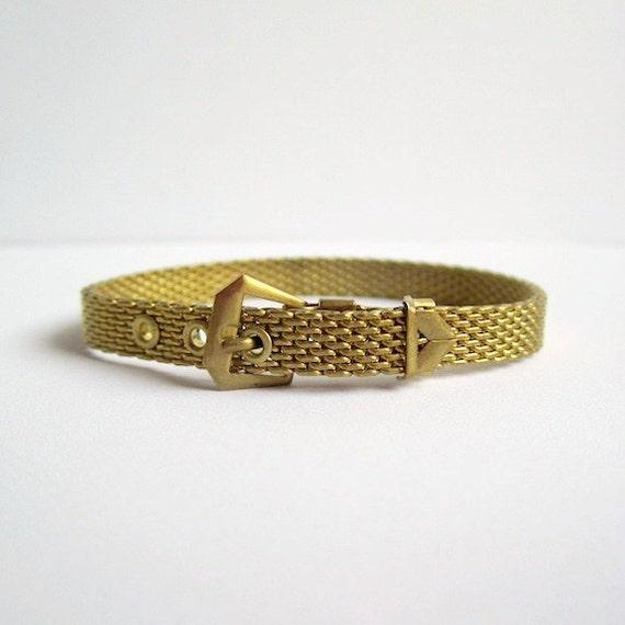 Antique Mesh Buckle Down Bracelet