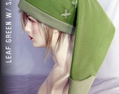Legend of Zelda - Link cosplay cap in green ( leaf/sage ) LAST ONE - hats by orgXIIIorg
