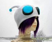 Invader ZIM robot GIR Cap - soft fleece cosplay hats by orgXIIIorg