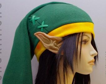Legend of Zelda - Link cosplay cap in retro Nintendo GameBoy green scheme