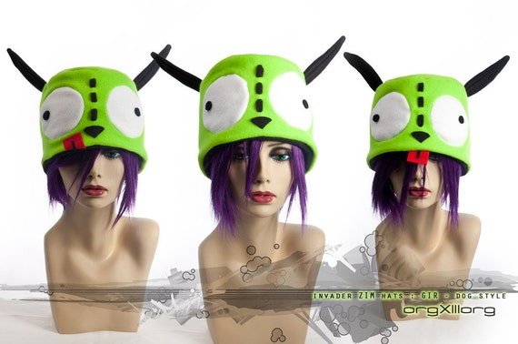 Invader ZIM dog GIR Cap - cosplay hats by orgXIIIorg