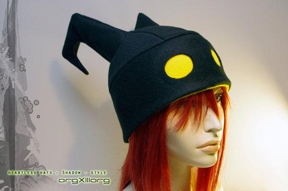 Kingdom Hearts Heartless Hat - original Shadow fleece beanie - cosplay hats by orgXIIIorg