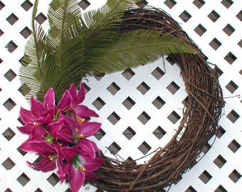 Purple Floral Wreath - Spring Wreath - Summer Wreath - Door Wreath - Floral Wreath - Spring Floral Wreath - Summer Floral Wreath - Wreath