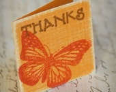 Fall Butterfly Thanks Mini card - Set of 5