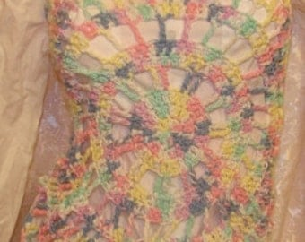 Yellow Blue Pink Green White Halter Swim Suit Cover Up