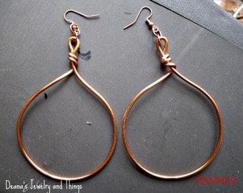 Raw Copper Earrings