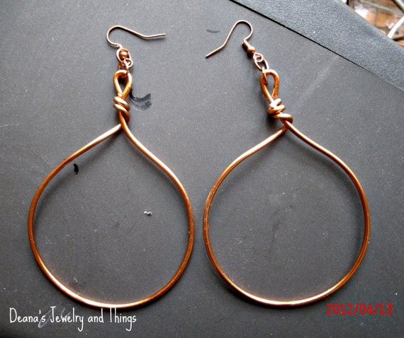 Copper Freeform Hoops