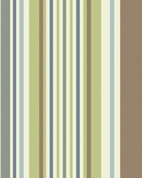City Girl Bar Code Stripe in blue green and by MonadnockFabric