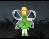 Tinkerbell Princess Hair Bow \/ Clip