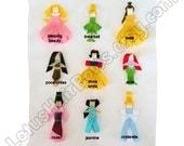 You Choose Any 3 Princesses - Princess Hair Bows \/ Clips - Would make a great Christmas Gift