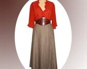 30s Slimming 6 Gored Skirt